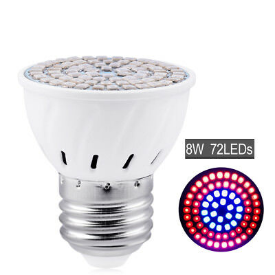 E27 Led Grow Light Wide Spectrum Red/blue 8W Lamp For Indoor Plant Flowers 64A4