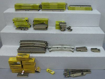 Marklin HO Scale Straight & Curved Track Sections, Switch & Bumpers