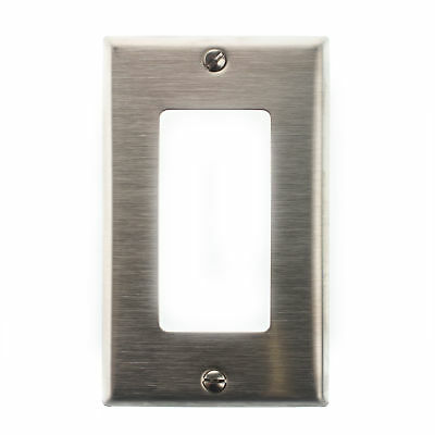 Leviton 84401-40 Decora-Style Stainless Steel Wall-Plate, Face-Plate, 1-Gang