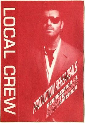 George Michael Authentic 1991 Cover to Cover tour Rehearsal satin Backstage Pass