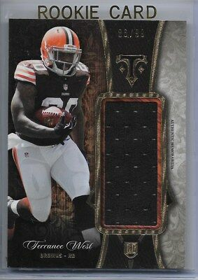 TERRANCE WEST  2014 Triple Threads (86/99) RC JUMBO JERSEY RELIC Ravens GEM MINT
