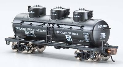 Bachmann 17151 N Philadelphia Quartz Co. 3-Dome Tank Car  NIB