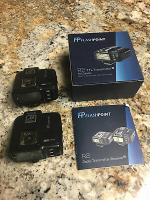 Two (x2) Flashpoint R2 E-TTL Transmitter for Canon Cameras (X1T-C)