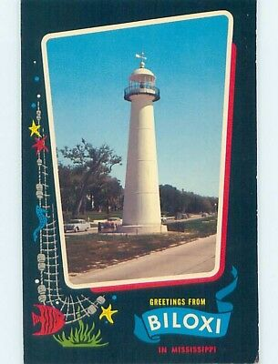 Pre-1980 GREETINGS FROM POSTCARD Biloxi Mississippi MS ho5525