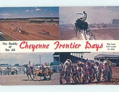 Pre-1980 FRONTIER DAYS RODEO Cheyenne Wyoming WY ho8035