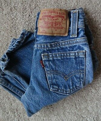 VTG INFANT/TODDLER LEVI JEANS SIZE 0 USA 19x9 Cool
