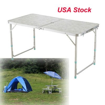 4 FT Portable Folding Table Outdoor Picnic Plastic Camping Dining Party Indoor