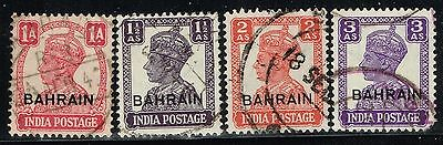 Bahrain 4 KGVI Used Issues - Lot 10415