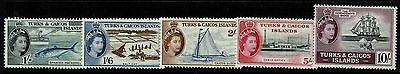 Turks and Caicos SG# 246-250, Mint Never Hinged, 248 ink dot - Lot 080717