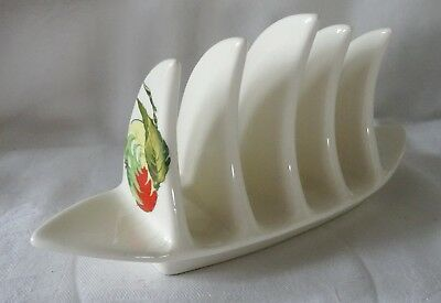 ROYAL WINTON GRIMSWADE   TOAST RACK  white with orange & green