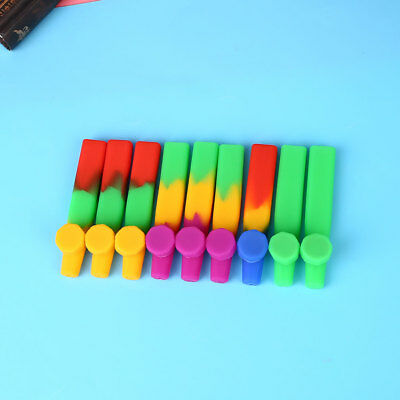 Fashion Silicone Tobacco Smoking Pipe with Cap For Cigarette Filter Holder Gift