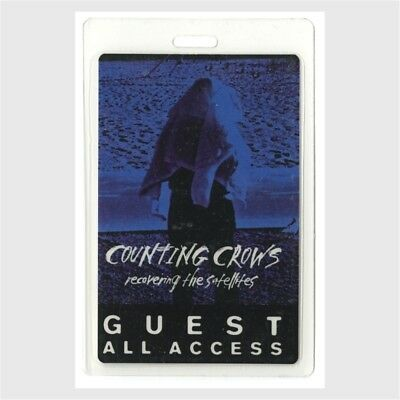 Counting Crows original 1996 Laminated Backstage Pass Recovering Satellites Tour