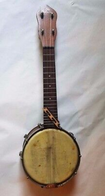 "OLD ""The Gibson""UB1 Banjolele, Tenor Banjo, Vintage W Original Canvas Board Case"