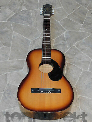 shabby vintage KLIRA parlor Blues Acoustic Guitar Germany 1960`
