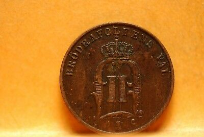 Sweden, 1881 2 Ore, Fine, flan chipped, No Reserve,                          396