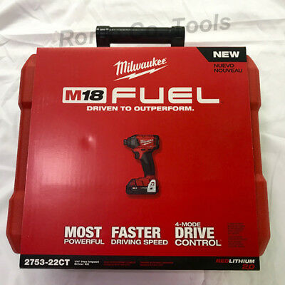 Milwaukee M18 FUEL 1/4in. Hex Impact Driver Kit with 2.0 Ah Batteries- 2753-22CT