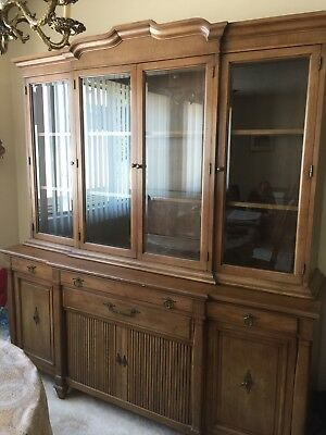 FANCHER Dining Room BREAKFRONT - VINTAGE - FAMILY HEIRLOOM
