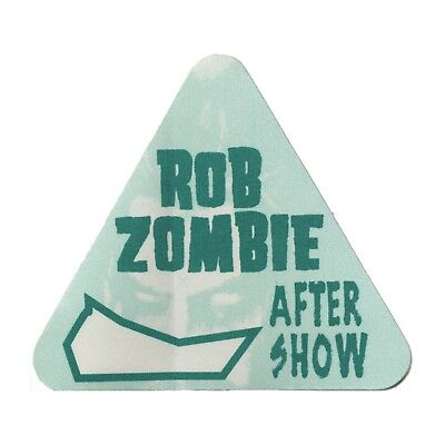 Rob Zombie authentic Aftershow 1998 tour Backstage Pass