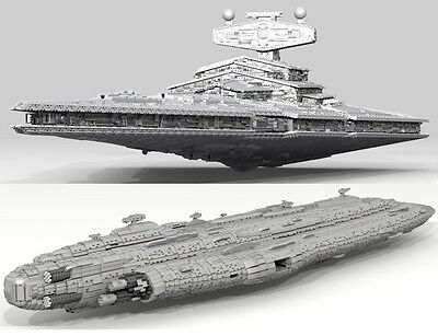 40,000-piece Lego Star Wars Imperial Star Destroyer and Home One (LDD models)