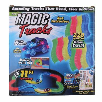 Magic Tracks The Amazing Racetrack that Can Bend, Flex & Glow Kids Toys Gifts