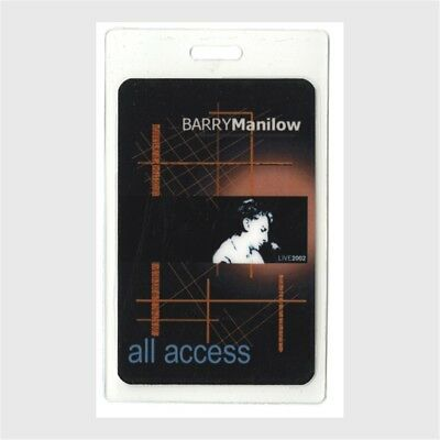 Barry Manilow authentic 2002 concert tour Laminated Backstage Pass ALL ACCESS