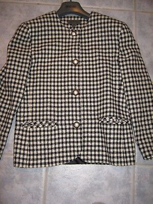 Vintage Country Road Houndstooth Short Jacket Size 12