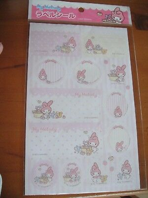 Sanrio My Melody  too cute ♡ Label Seals Stickers NEW from Japan