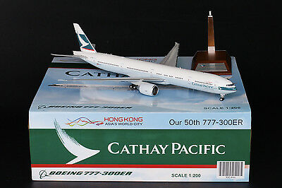 "Cathay Pacific 777-300ER B-KQX ""50th 777-300ER"" JC Wings 1:200 XX2446 LAST PC"