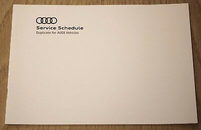Genuine Audi A3 S3 A4 S4 A5 S5 A6 A7 Q3 Q5 Q7 Tt Duplicate Service History Book