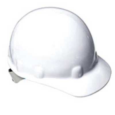 NORTH SAFETY E2RW01A000 Hard Hat, FrtBrim, NonSlotted, 8Rtcht, White