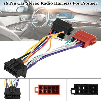 Car Stereo Radio ISO Wiring Harness Connector 16-Pin PI100 For Pioneer 2003-on