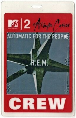 REM authentic 2004 concert Laminated Backstage Pass MTV2 Album Covers Sessions
