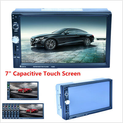 "7"" 2 Din In-dash Car MP5 Player Touch Screen Radio Audio Stereo USB FM Bluetooth"