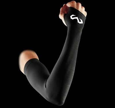 McDavid Women's Compression Thumbhole Arm Sleeves Pair Black SMALL S Training