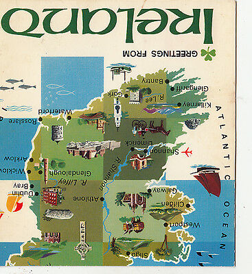 BF12985 map cartes geographiques  ireland  front/back image