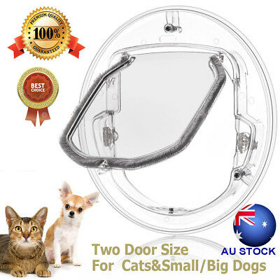 Round Clear Pet Door for Cats & Dogs Cat Door Flap Door for Screen/ Glass Window