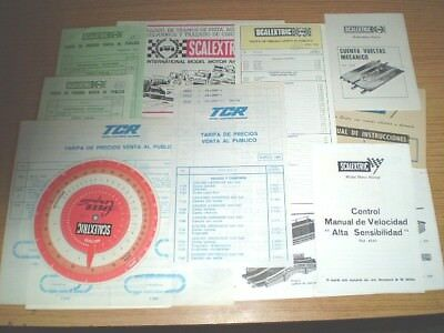 Lote 12 Documentos Scalextric Exin Tcr