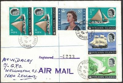 1967, Registered Airmail Cover, Pitcairn Islands To New Zealand.