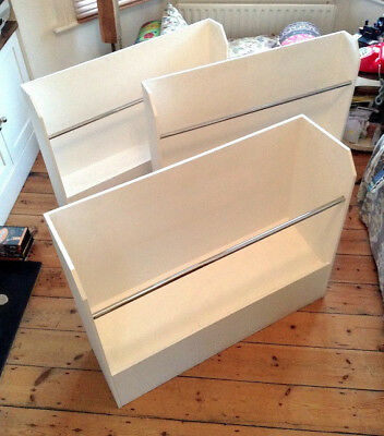 Art browsers, Display rack  x 3 perfect for exhibitions. Sturdy White. with rail