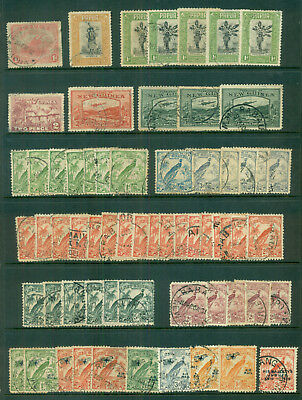 EARLY PAPUA AND NEW GUINEA COLLECTION of 64 used stamps