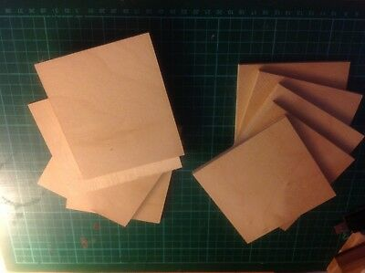 9 Various size ply wood offcuts 100x100 job lot crafts, models, art, hobbyists