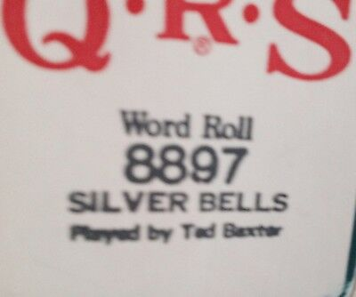 Silver Bells Popular Christmas  Pianola Player Piano  Roll