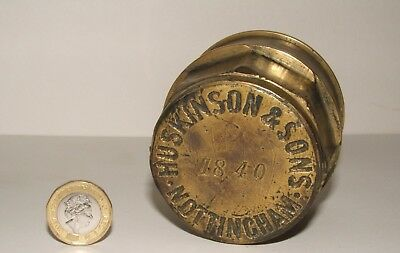 Antique Brass Horse Drawn Cart/wagon Wheel Hub Caps Huskinson & Sons