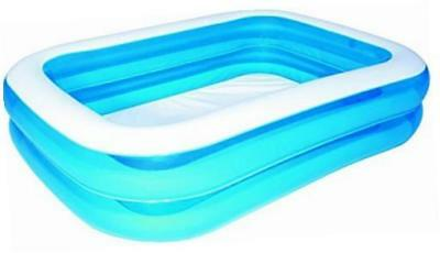 "Bestway Rectangular Inflatable Family Pool - 79"" Blue"