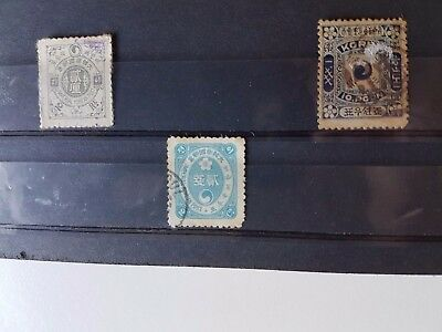 Korea - Three Used Stamps from 1895 and 1900