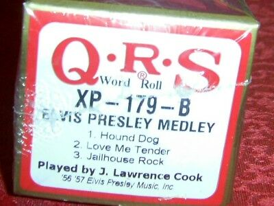 Elvis Medley  3 Selections Brand New Long Play Pianola Roll