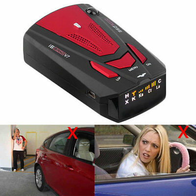 New V7 Car 360 Degree 16 Band GPS Speed Police Radar Detector Laser Voice Alert