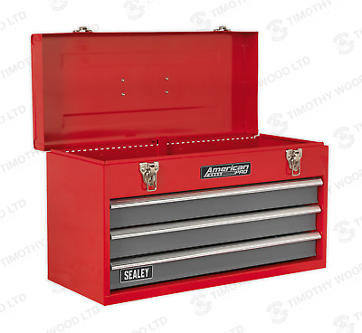 Sealey Top Chest Tool Storage Box 3 Drawer Garage Workshop Ball Bearing Runners