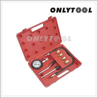 Motor Auto Petrol Gas Engine Cylinder Compression Tester Gauge Professional Kits