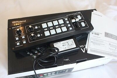Roland V-1HD 4 input HDMI Vision mixer Great condition with soft case included